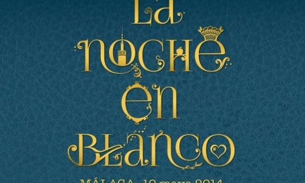 Llega la noche en Blanco de Málaga, 10 de mayo de 2014.